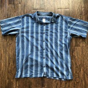 Patagonia blue button shirt
